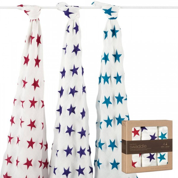 Aden + Anais Celebration Silky Soft Swaddles 3 Per Pack