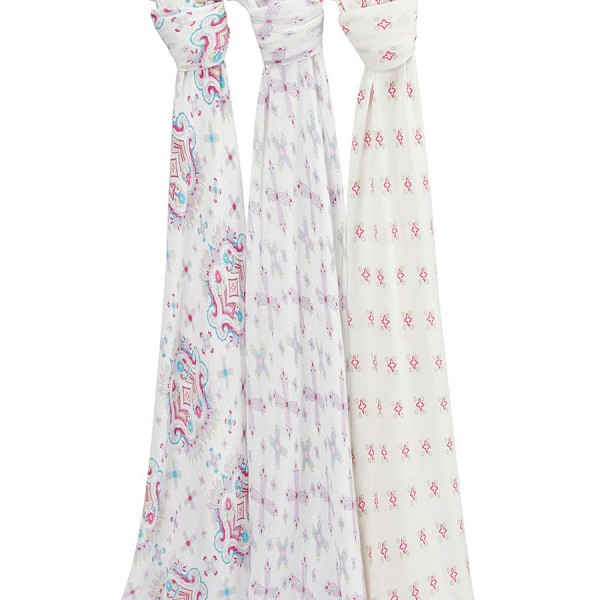 Aden + Anais Flower Child Silky Soft Swaddles 3 Per Pack