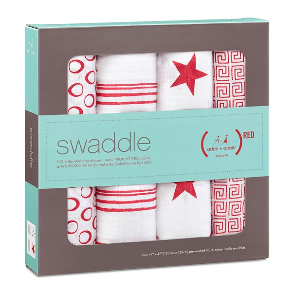 Aden + Anais Red Classic Swaddles