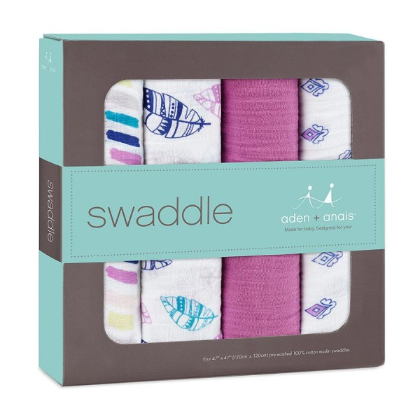 Aden + Anais Classic Swaddles Wink 4 Per Pack