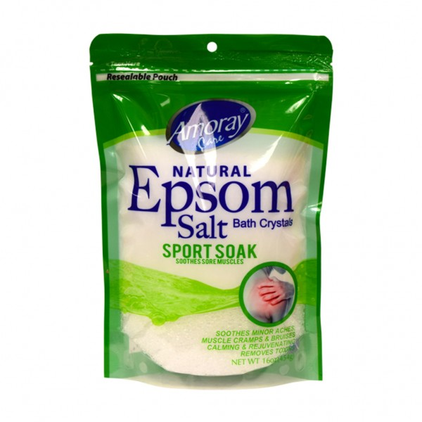 Amoray Care Sport Soak Epsom Bath Salt 454g