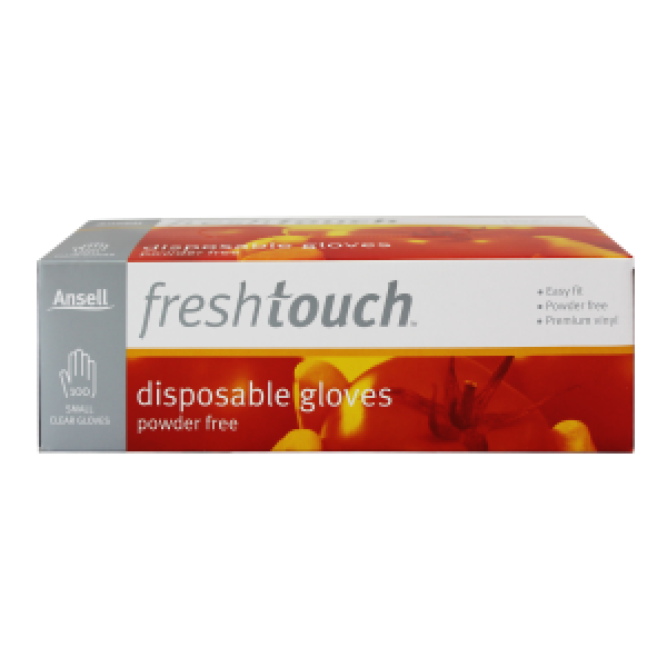 Ansell Freshtouch Disposable Gloves Powder Free Small Size 100s