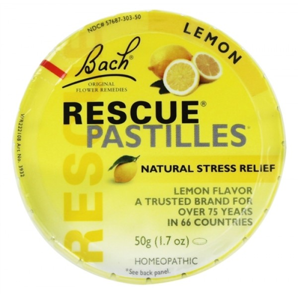 Bach Rescue Lemon Pastilles 50g