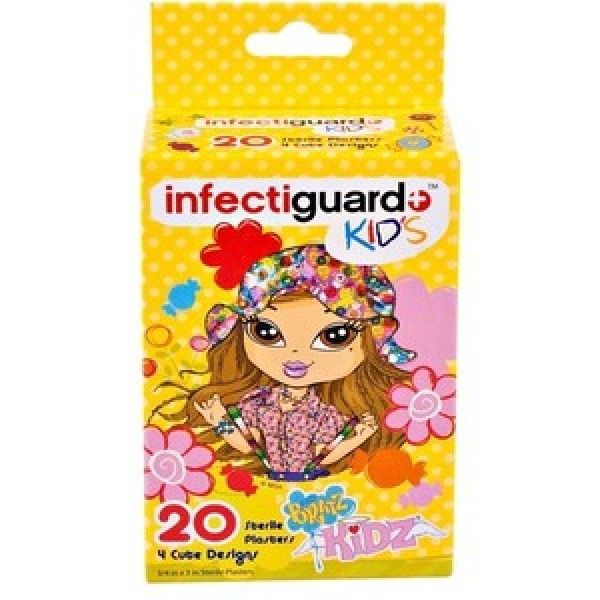 Bandaid Infectiguard Bratz Kids 20 Pieces