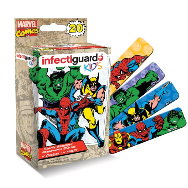 Bandaid Infectiguard Marvel Kids 20 Pieces