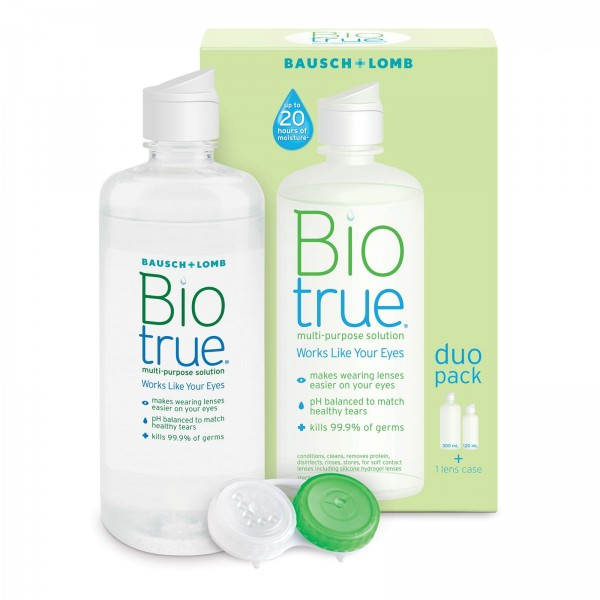 Bausch + Lomb Biotrue Contact Lenses Solution Duo Pack 300ml + 120ml