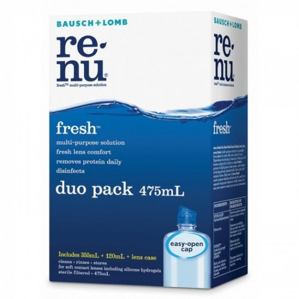Bausch + Lomb Renu Fresh Duo Pack 475ml