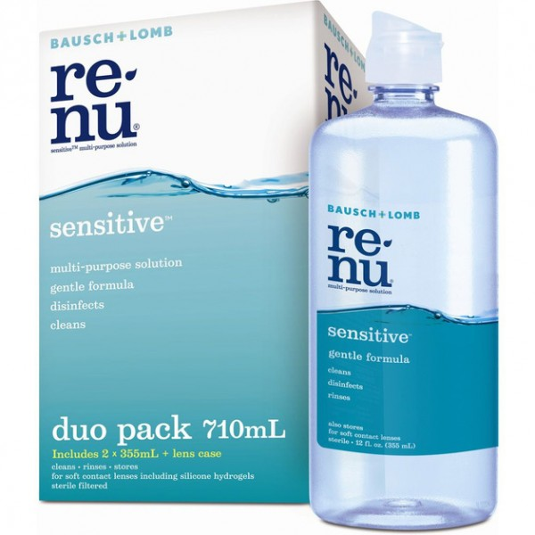 Bausch + Lomb Renu Sensitive Duo Pack 710ml