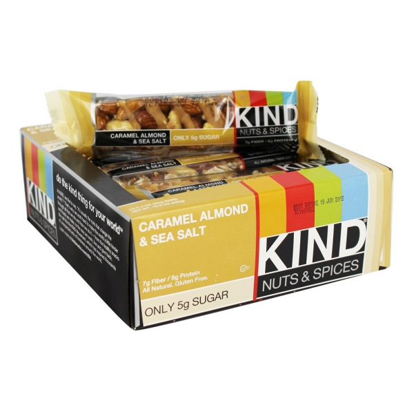 Be Kind Nut Bars Caramel Almond & Sea Salt 40g 12 Pk