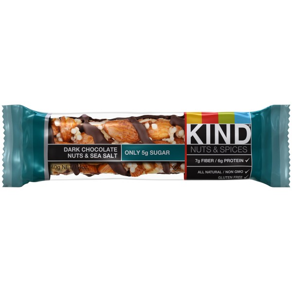 Be Kind Nut Bars Dark Chocolate Nuts & Sea Salt 40g