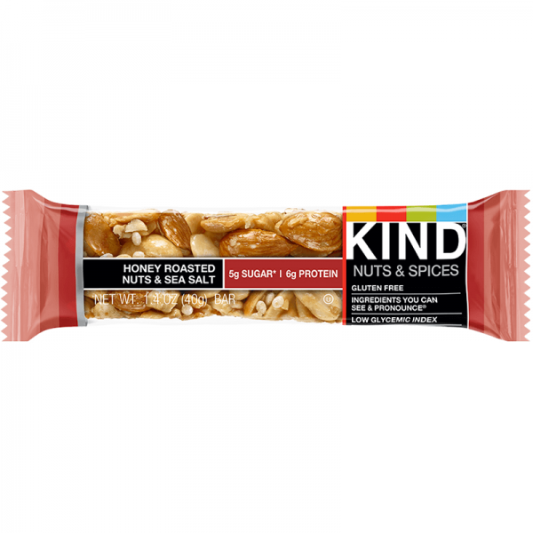 Be Kind Nut Bars Honey Roasted Nuts & Sea Salt 40g