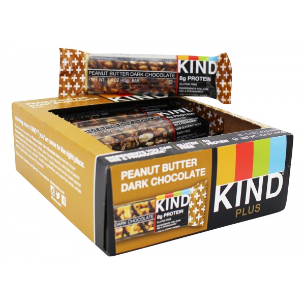 Be Kind Nut Bars Peanut Butter Dark Chocolate 40g 12 Pk