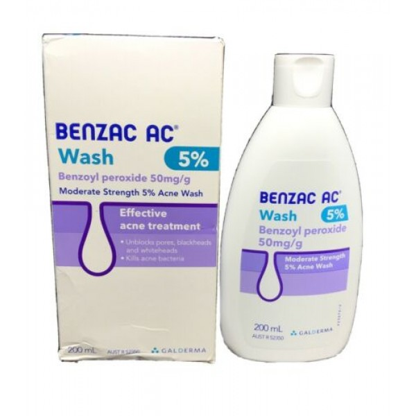 Benzac AC Acne Wash 5% 200ml