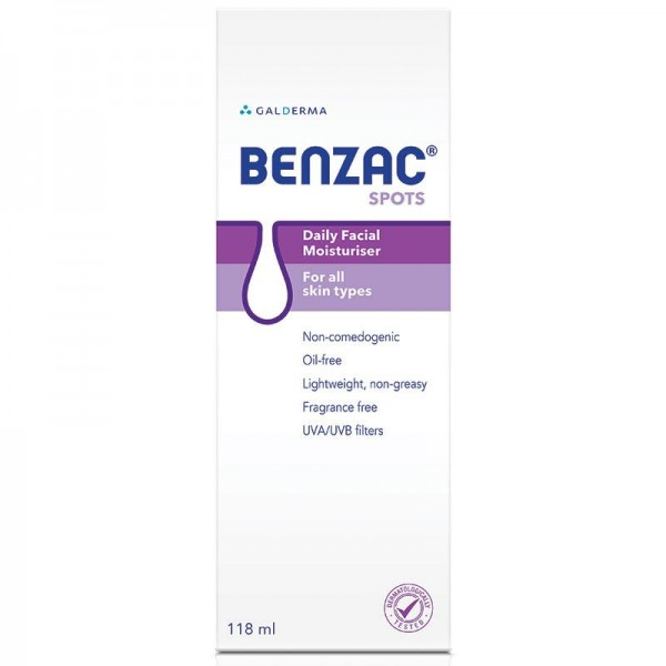 Benzac Daily Face Moisturiser 118ml