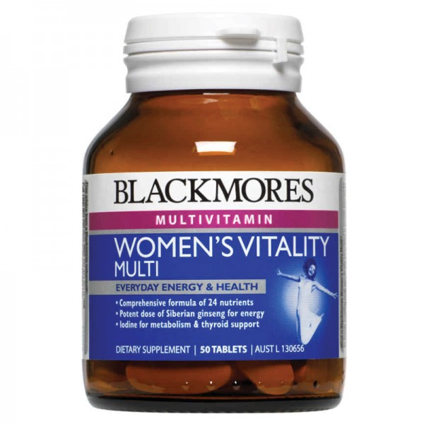Blackmores Women's Vitality Multi 50 Tablets