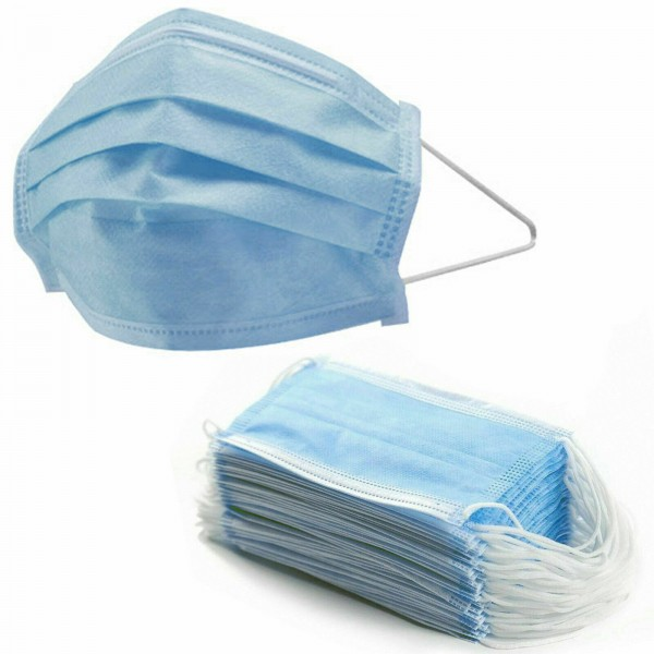 Breathe Free Disposable 3-ply Medical Surgical Face Mask Single Piece