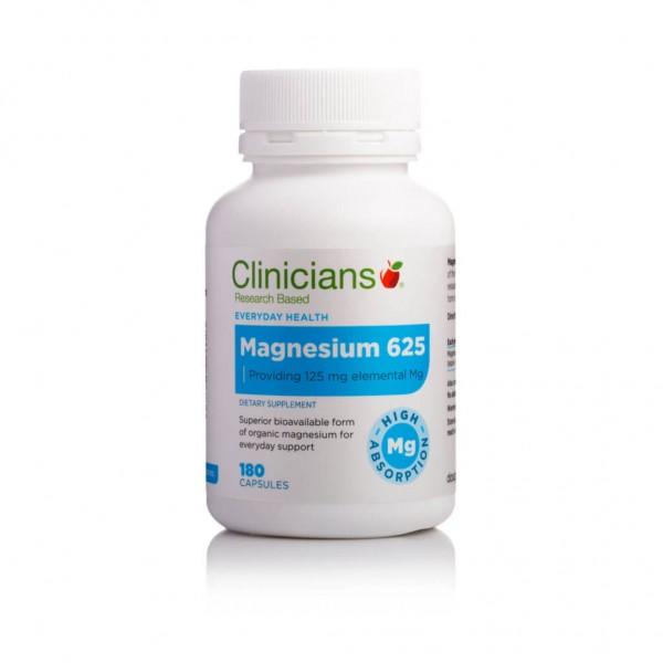 Clinicians Magnesium 625 180 Capsules