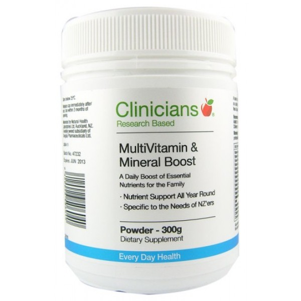 Clinicians MultiVitamin & Mineral Boost Powder 300g