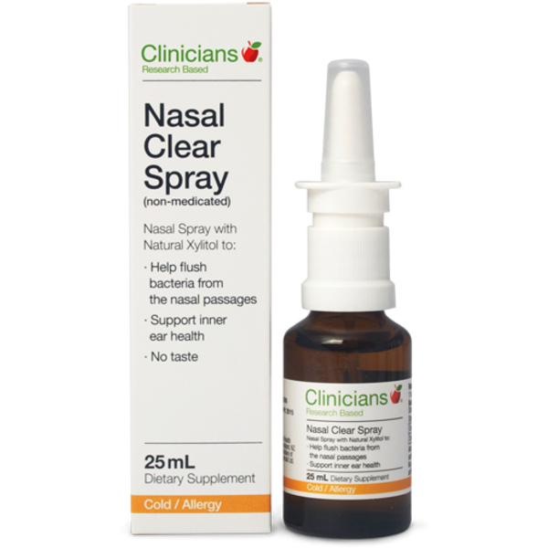 Clinicians Nasal Clear Spray 25ml