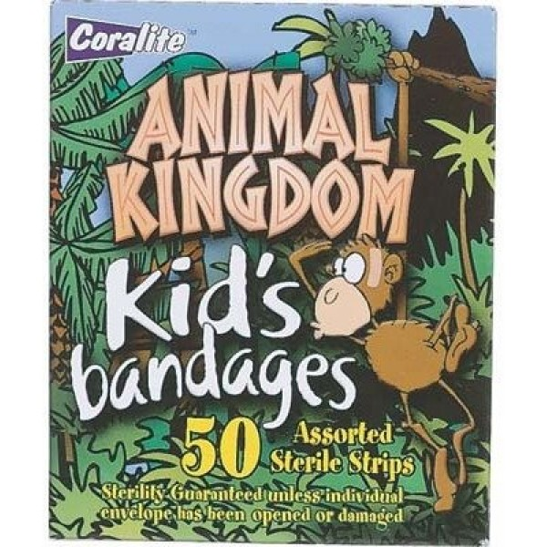 Coralite Kids Animal Kingdom Bandaid 50 Pieces