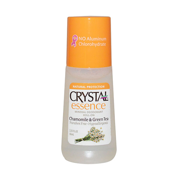 Crystal Mineral Deodorant Roll On Essence Chamomile Green Tea 66ml
