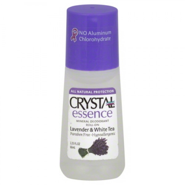 Crystal Mineral Deodorant Roll on Essence Lavender & White Tea 66ml