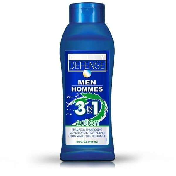 Daily Defense Men Hommes 3 in 1 Action Body Wash 443ml