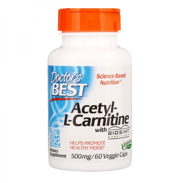 Doctor's Best Acetyl-L-Carnitine 500mg 60 Capsules