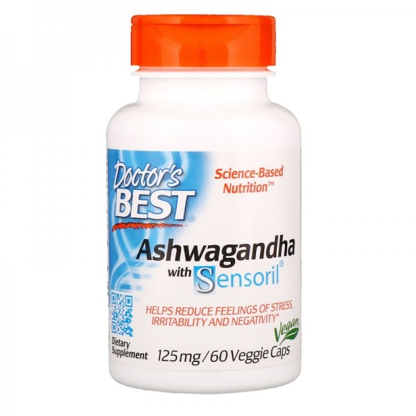 Doctor's Best Ashwagandha 125mg 60 Capsules