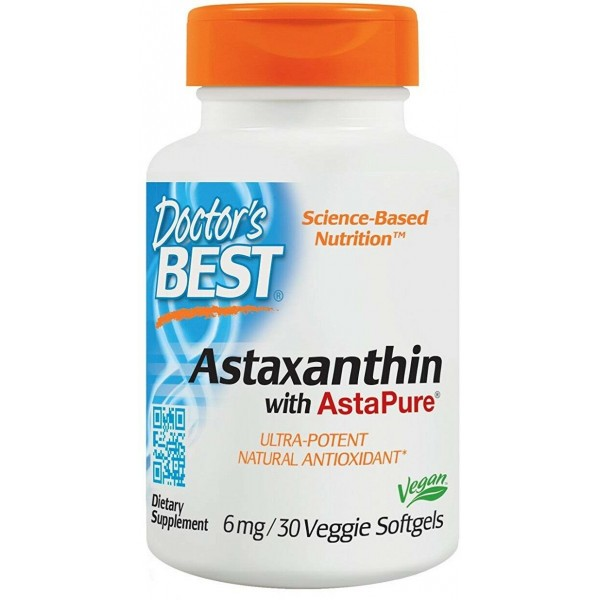 Doctor's Best Astaxanthin 6mg 30 Softgels