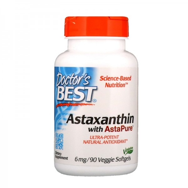 Doctor's Best Astaxanthin 6mg 90 Softgels