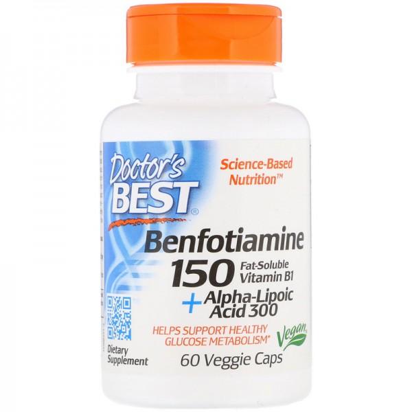 Doctor's Best Benfotiamine 150 + Alpha-Lipoic Acid 300 60 Capsules
