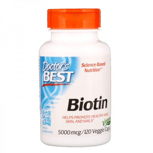 Doctor's Best Biotin 5000mcg 120 Capsules