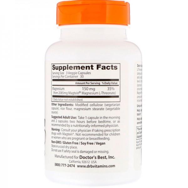 Doctor's Best Brain Magnesium 50mg 90 Capsules