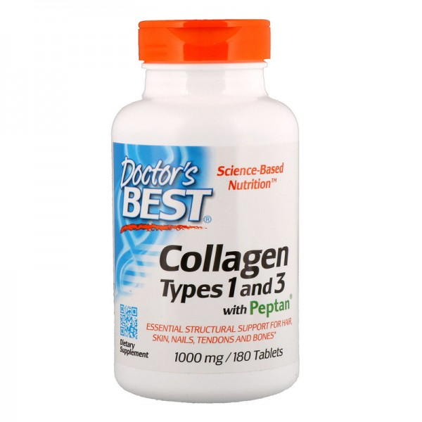 Doctor's Best Collagen Types 1 & 3 1000mg 180 Tablets