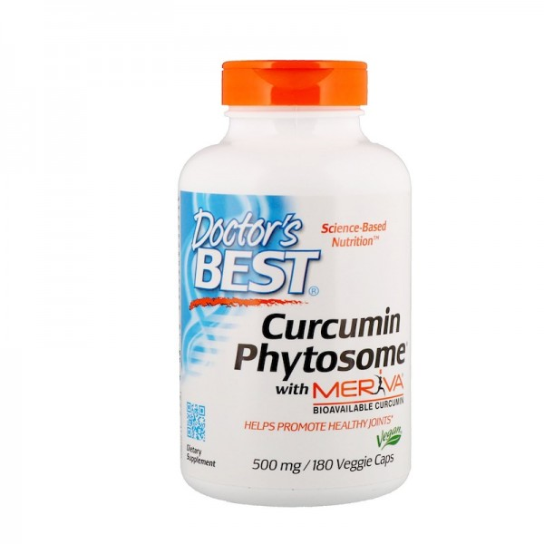 Doctor's Best Curcumin Phytosome with Meriva 500mg 180 Capsules