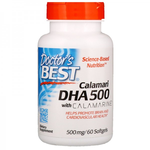 Doctor's Best DHA 500 from Calamari 500mg 60 Softgels