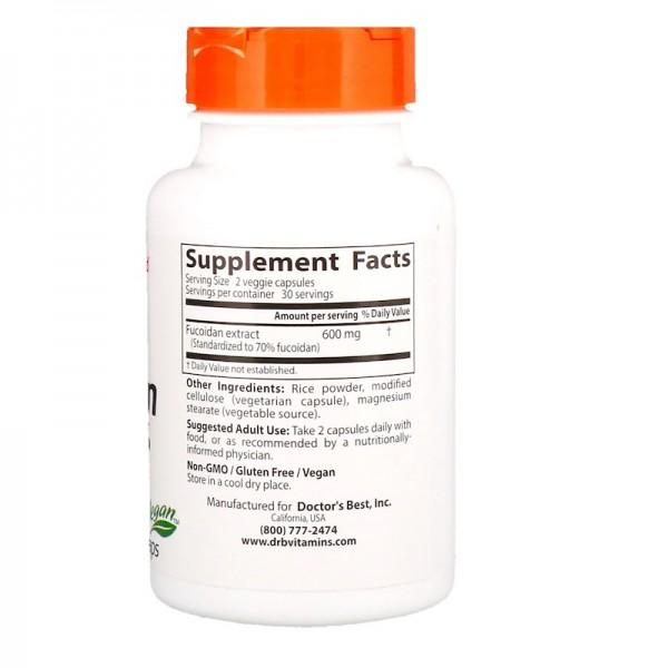 Doctor's Best Fucoidan 70% 60 Capsules