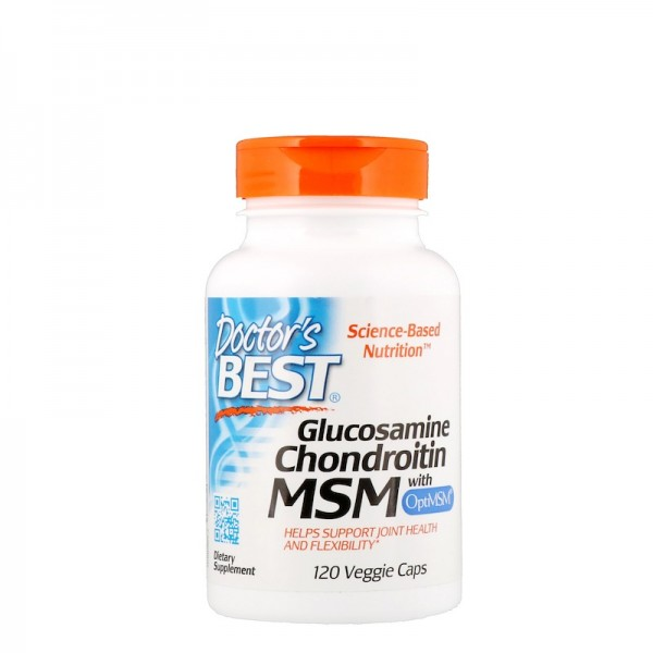 Doctor's Best Glucosamine Chondroitin MSM 120 Capsules