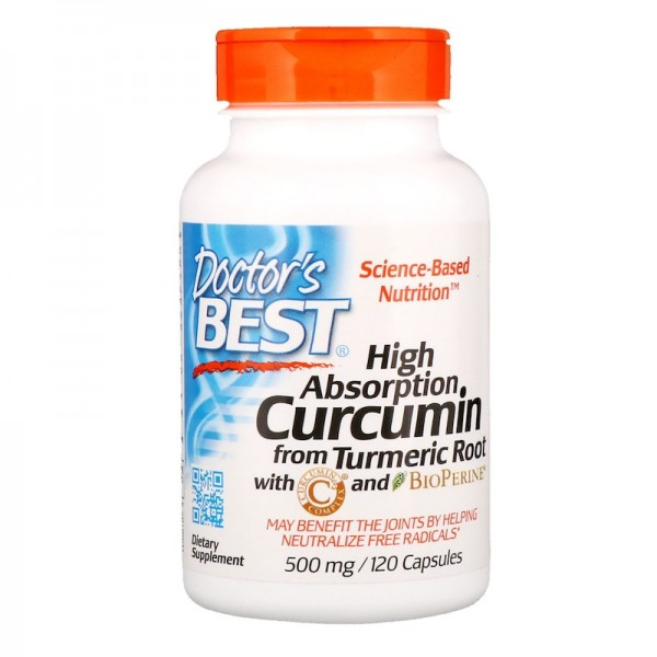Doctor's Best High Absorption Curcumin 500mg 120 Tablets