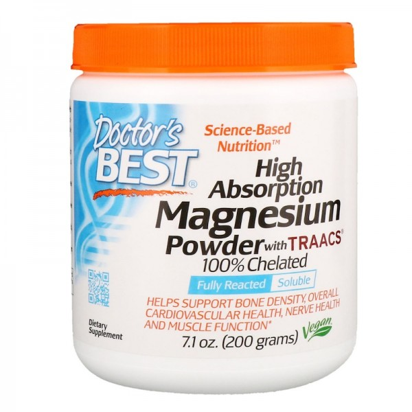 Doctor's Best High Absorption Magnesium Powder 100% Chelated 200g