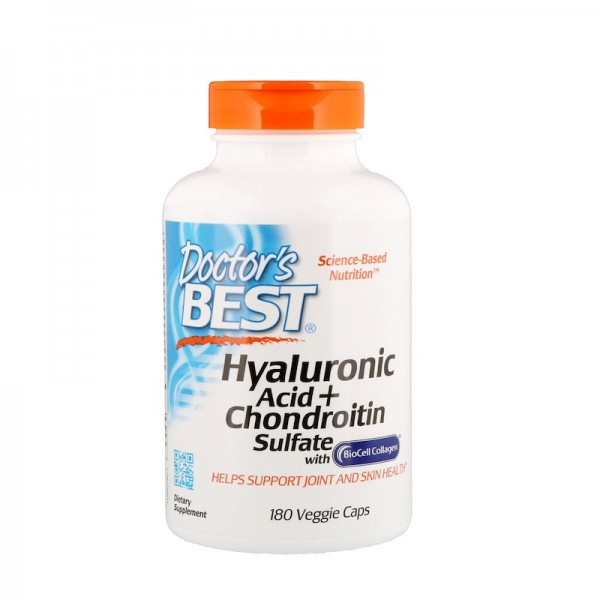 Doctor's Best Hyaluronic Acid Plus Chondroitin Sulfate 180 Capsules