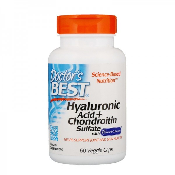 Doctor's Best Hyaluronic Acid Plus Chondroitin Sulfate 60 Capsules