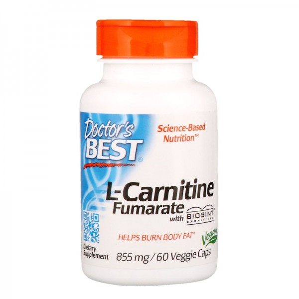 Doctor's Best L-Carnitine Fumarate 855mg 60 Capsules