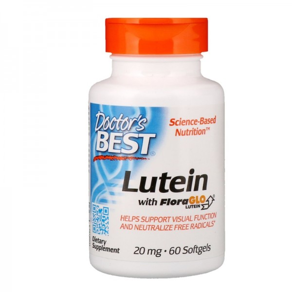 Doctor's Best Lutein with FloraGlo 20mg 60 Softgels