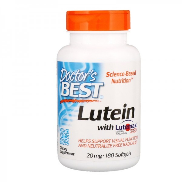 Doctor's Best Lutein & Meso-Zeaxanthin 20mg 180 Softgels