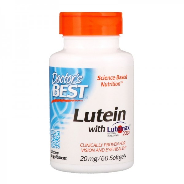 Doctor's Best Lutein & Meso-Zeaxanthin 20mg 60 Softgels