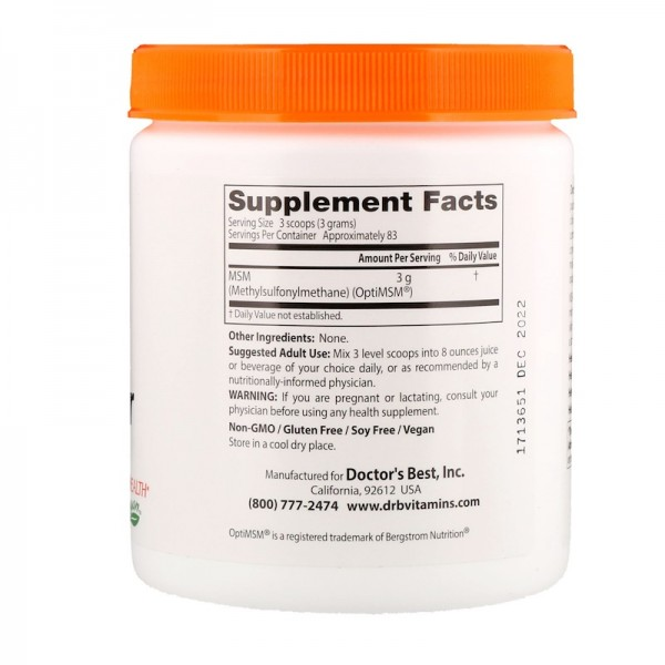 Doctor's Best MSM Powder 250g