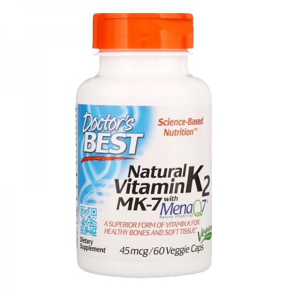 Doctor's Best Vitamin K2 45mcg 60 Capsules