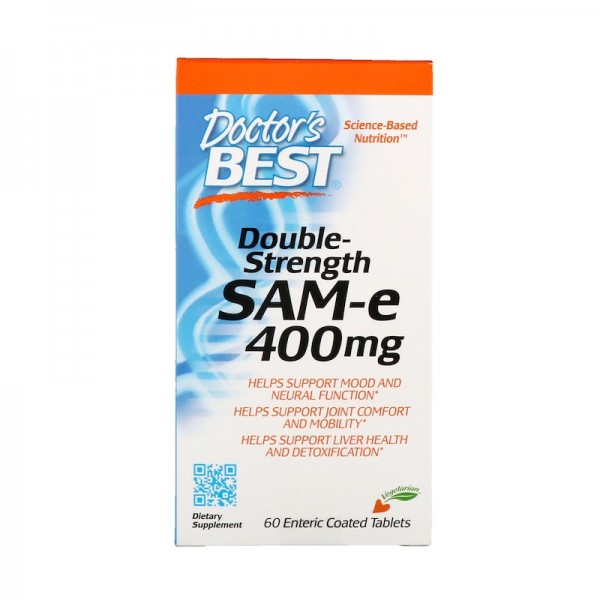 Doctor's Best SAM-e Double Strength 400mg 60 Tablets